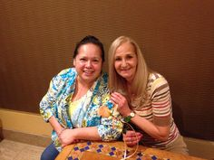 My friend Lynn and I at the Bellagio Buffet.
