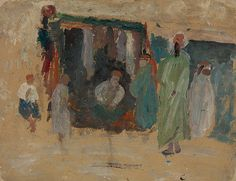 Souk (Nordafrika), 1917/18 18th, Painting, Switzerland, Art Production, Painting Art, Paintings, Painted Canvas, Drawings