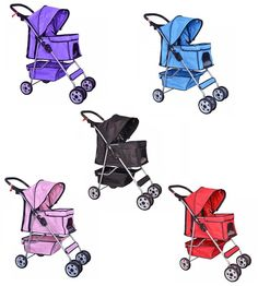 4 Wheel Pet Stroller with Raincover