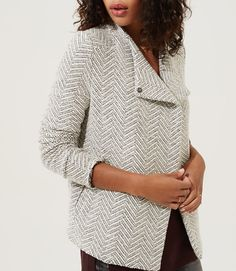 Thumbnail Image of Color Swatch 9451 Image of Lou & Grey Chevron Moto Jacket