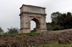 Roman Forun |  Arch of Titus, 82 AD, Rome. Arch Of Titus, Roman Architecture, Ancient Romans, Roman Empire, Rome, Painting, Roman Britain, Painting Art, Paintings