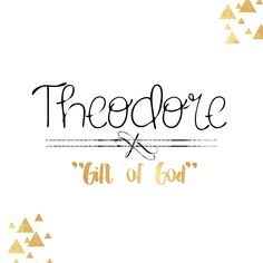 "When we first picked the name Theodore for our baby boy, we had no idea why it just ""sounded right"" to us. It just fit as many parents will likely say of the names they pick for their children. A few days after we had picked it out, I researched the meaning of the name and found that it means ""gift of God"" and we fell in love with the name even more"