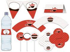 Festa Chá - chá de cozinha, panela, entre amigas - vermelho, marrom, branco Tuty - Arte & Mimos www.tuty.com.br