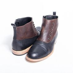 1920's Alcapone inspired boots Spats Black and by goodbyefolk, $280.00