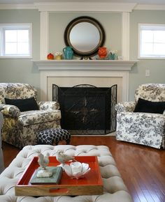 Black Toile chairs ♥♥