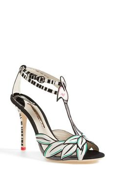 SOPHIA WEBSTER 'Flamingo' T-Strap Leather Sandal (Women) available at #Nordstrom