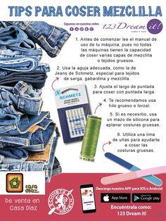 Para que no te cueste trabajo coser la mezclilla aquí te dejamos estos tips que te ayudarán.