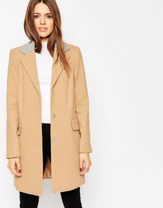 ASOS Coat With Contrast Collar