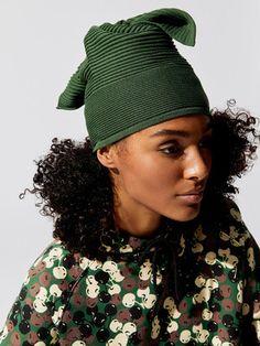Rib Knit Tie Hat Hats + Hair Accessories in Army by Adam Selman Sport from Knit Tie, Rib Knit, Dance Socks, Hat Hairstyles, Bra Sizes, Leg Warmers, Winter Hats, Hair Accessories, Legs