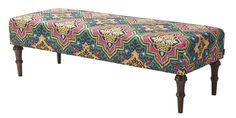 Jennifer Taylor Issac Bench in Multi Color