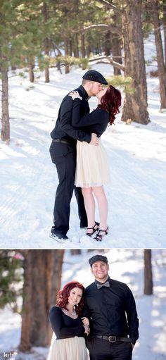 Snowy, romantic mountain engagement session | KMH Photography | Las Vegas Wedding + Portrait Photographer