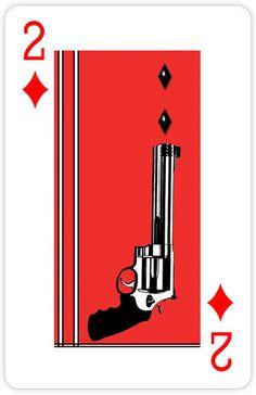 2 of Diamonds Cool Playing Cards, Custom Playing Cards, Vintage Playing Cards, House Of Cards, Deck Of Cards, Card Deck, Handpoke Tattoo, Card Tricks, Pulp Art