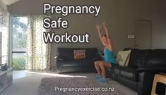 Pregnancy Exercise: This week's Pregnancy Fit Mum Workout is safe and effective and can be done during each trimester. Repin to save and follow. Exercises: Open Squats Split Lunges - avoid lunges if you have any back or pelvic pain Open Twist to Press Side Plank leg lifts Raised Bridge Extensions Do 10 reps of each and repeat 2-3 times. Enjoy! You can join our Fit2BirthMum program at any time during pregnancy just click on the link.
