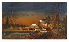 """""""Welcome to paradise"""" Fine art print (3234/14,500) of an old country store by T. Redlin. Image size 14 x 24 inches. Paper size 18 x 27 inches."""