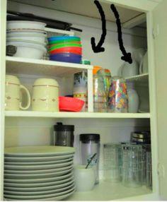 Add Wire Shelves For Extra Storage Space - 23 Shockingly Easy DIY Kitchen Organi. Apartment Kitchen Organization, Small Apartment Kitchen, Small Kitchen Storage, Kitchen Cabinet Organization, Diy Organization, Apartment Ideas, Apartment Living, Stacking Shelves, Diy Storage