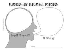 Mental Filter Activity: Brain or Speak