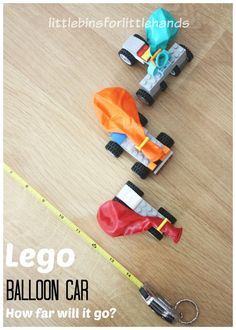Lego Balloon Car Measuring Distance Lego Car Building Activity