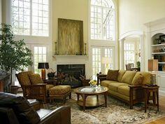 Traditionelle Wohnzimmer Verzierungsideen