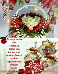 Bună dimineața și o zi binecuvântată Special Flowers, Beautiful Roses, Diy And Crafts, Christmas Wreaths, Table Decorations, Holiday Decor, Google, Home Decor, Decoration Home