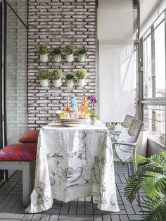 Terraza acristalada a modo de salón