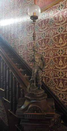 #staircase #stairway CLICK PIC FOR MORE PHOTOS OF THIS 1880 Lebold Mansion For Sale In Abilene Kansas