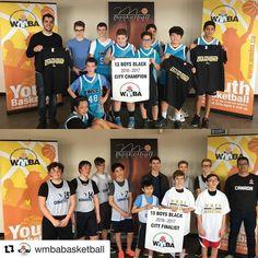 @wmbabasketball 13 Boys Black championship game Lindenwoods 36 - Corydon 27