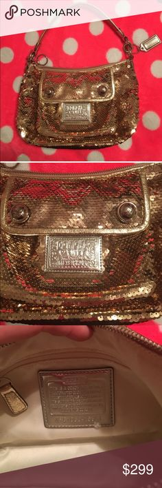 Coach Poppy Gold sequin purse Coach Poppy gold sequin purse Coach Bags