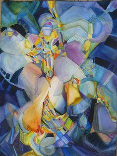 "Anunciata by Lou Jordan Watercolor ~ 30"" x 22"""