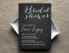 Chalkboard Script Bridal Shower Invitation by parksideprints, $1.79
