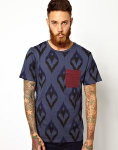 Image 1 ofSon Of Wild T-Shirt with Contrast Pocket