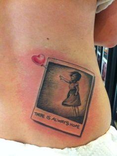 polaroid of hope - liking the polaroid idea Tattoo Shop, I Tattoo, Tattoo Quotes, Body Art Tattoos, Cool Tattoos, Thigh Tattoos, Future Tattoos, Tattoos For Guys, Bicycle Tattoo