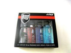 BOD Man for Men Assorted Fragrance Body Sprays 4 pc Gift Set