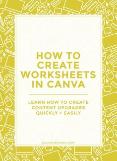 How to create worksheets and workbooks in Canva | Content upgrades are a great way to increase traffic to your blog. Learn how to create worksheets and workbooks in Canva that you can use to grow your blog. Click through for the tutorial.
