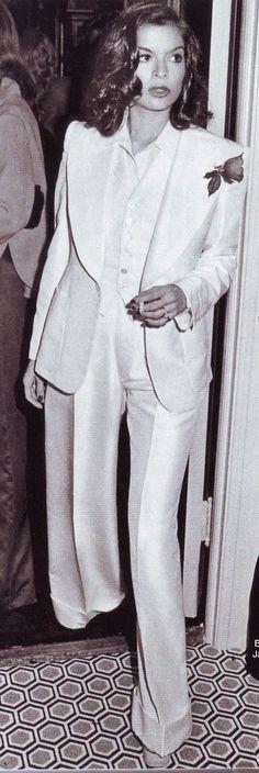 Bianca Jagger in YSL.