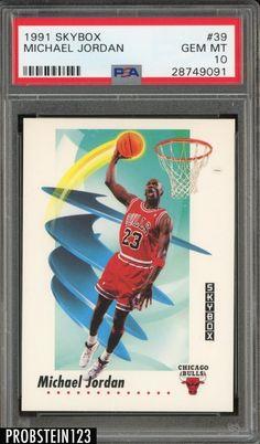f81c87060fa973 1991-92 Skybox  39 Michael Jordan Chicago Bulls HOF PSA 10 GEM MINT