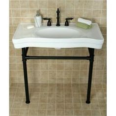 @Overstock - This white pedestal bathroom sink will free up space while adding style to any washroom. The wall-mounted sink features a vintage design. This sink is easy to clean and is stain-resistant, making it a simple, yet graceful addition to your bathroom.http://www.overstock.com/Home-Garden/Imperial-Vintage-Oil-Rubbed-Bronze-Pedestal-Bathroom-Sink/6573328/product.html?CID=214117 $529.99