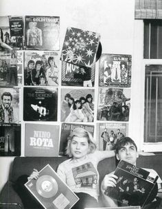 Deborah Harry and Chris Stein Famous People With Vinyl | vintage everyday