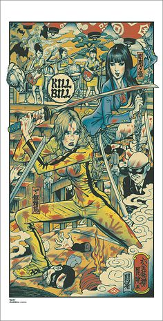 #myfantasyart Mondo's Kill Bill movie poster