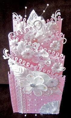 Card: Double Tri-Fold (Cascading), for Monica