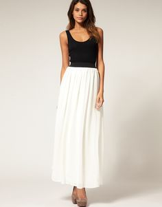 Pretty White Maxi Skirt : Beauteous White Maxi Skirt