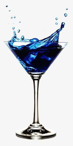 Copas de coctel azul, Azul, Cocktail, Copa De Vino Imagen PNG