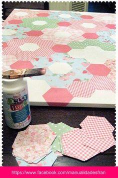 DIY paper quilt on canvas. DIY paper quilt on canvas. Cute Crafts, Crafts To Make, Diy Crafts, Diy Projects To Try, Craft Projects, Project Ideas, Craft Ideas, Decor Ideas, Papier Diy