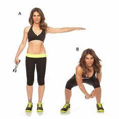 Side squat con pesas haciendo un 8 #jillianmichaels #workout