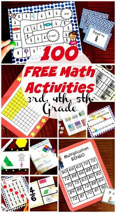 50 Awesome and Fun Math Activities for and Grade Students If you are on the search for fun math activities, look no further. These activities designed for and students are engaging and free. 4th Grade Math Games, 4th Grade Activities, Math Activities For Kids, Fourth Grade Math, Fun Math Games, Math Tutor, Math For Kids, Kids Fun, Math For 5th Graders