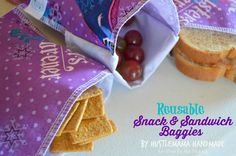 Reusable Snack and Sandwich Bags - Mine for the Making