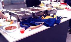 Buffet Line @ 220 Rooftop Tiki Bar!