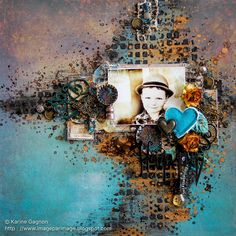 Hi, I& here today to share a layout I made for the 7 Dots Studio challenge called «Moment in Time Love Scrapbook, Painting, Scrapbook Layout Sketches, Art, Mixed Media Scrapbooking, Altered Art