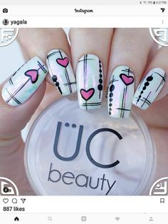 Give style to your nails using nail art designs. Worn by fashionable celebs, these types of nail designs can incorporate immediate style to your wardrobe. Winter Nail Designs, Winter Nail Art, Toe Nail Designs, Acrylic Nail Designs, Winter Nails, Summer Nails, Acrylic Nail Shapes, Acrylic Nails, Different Nail Shapes