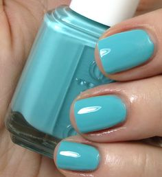 Essie Where's My Chaffeur. Looks darker and more saturated and more blue in this swatch than in others.