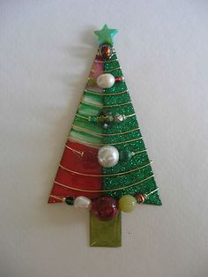 Lg Signed Dalton Modernist Christmas Tree Pin